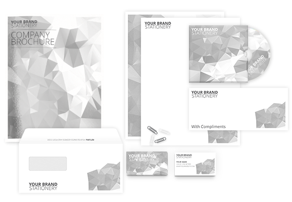 Letterheads, business cards, compliment slips, brochures, envelopes and more!