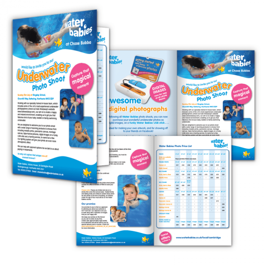 Leaflets, Flyers, Brochures designed and printed Wellingborough, Kettering, Corby, Northampton