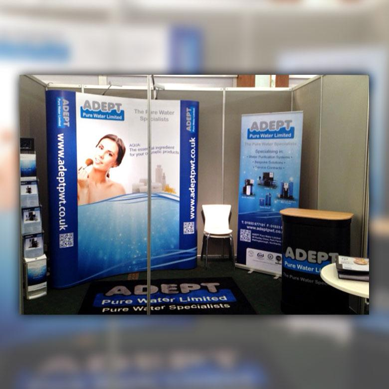 Exhibition Banners designed and printed in Wellingborough