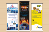 Roller Banners designed and printed, Wellingborough, Northamptonshire