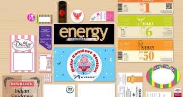 Labels designed and printed, Wellingborough, Northamptonshire