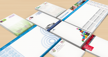 Notepads, Flyers, Brochures, Business Cards designed and printed, Wellingborough, Northamptonshire